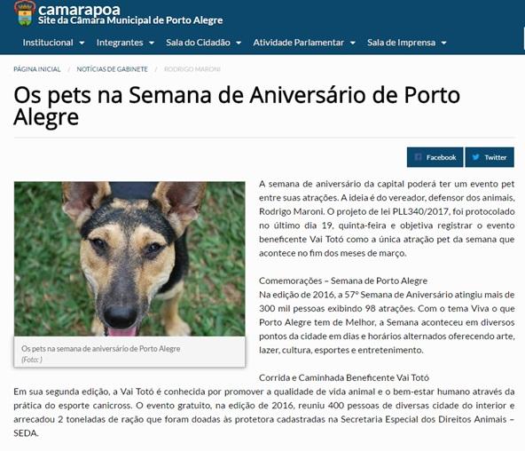 2017 fev Site Câmara Municipal de Porto Alegre
