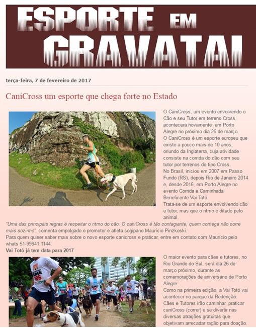 2017 fev Site Esporte em Gravatai