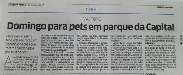 2017 mar Jornal Correio do Povo