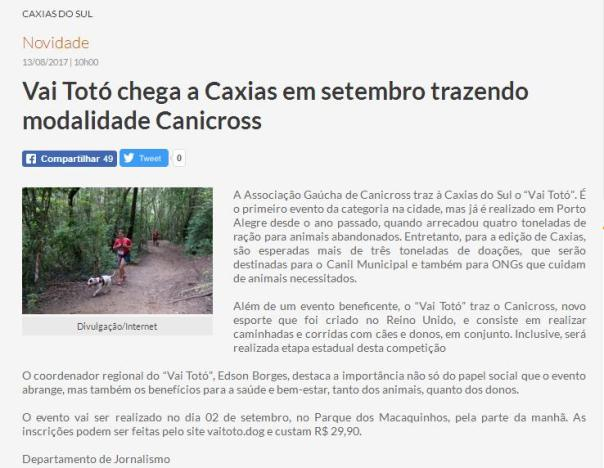 2017 Rd Caxias 13.08.2017