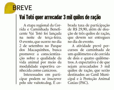 2017 Vai Totó Jornal Pioneiro