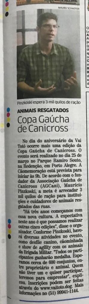Jornal Correio do Povo março.2018